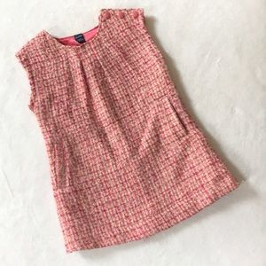 Baby gap pink/gold Boucle dress size 18-24 months